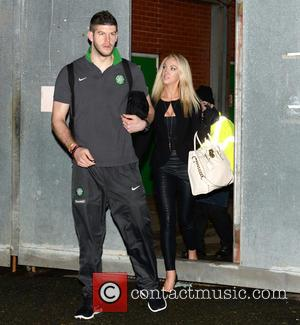 Leah Totton and Fraser Forster - Winner of The Apprentice Leah Totton leaves Celtic Park football ground with boyfriend and...
