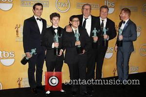 Ed O'Neill, Eric Stonestreet, Jesse Tyler Ferguson, Nolan Gould, Rico Rodriguez and Ty Burrell - California - West Hollywood, California,...