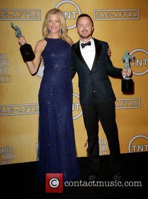 Anna Gunn and Aaron Paul