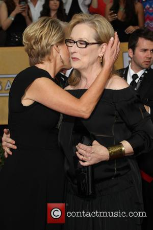 Emma Thompson and Meryl Streep - The 20th Annual Screen Actors Guild (SAG) Awards held at The Shrine Auditorium -...