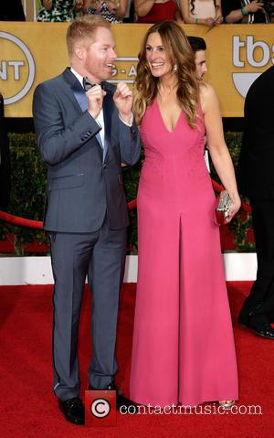 Jesse Tyler Ferguson and Julia Roberts - The 20th Annual Screen Actors Guild (SAG) Awards held at The Shrine Auditorium...