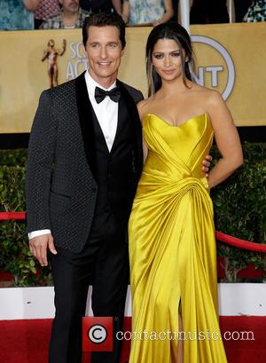 Matthew McConaughey and Camila Alves - The 20th Annual Screen Actors Guild (SAG) Awards held at The Shrine Auditorium -...