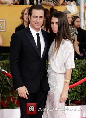 Dermot Mulroney and Tharita Cesaroni - The 20th Annual Screen Actors Guild (SAG) Awards held at The Shrine Auditorium -...