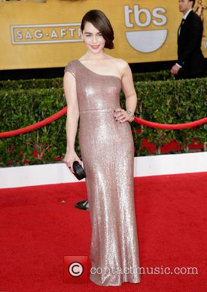 Emilia Clarke - The 20th Annual Screen Actors Guild (SAG) Awards held at The Shrine Auditorium - Arrivals - Los...
