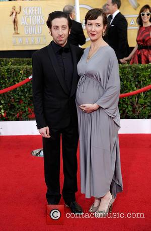 Simon Helberg and Jocelyn Towne - The 20th Annual Screen Actors Guild (SAG) Awards held at The Shrine Auditorium -...