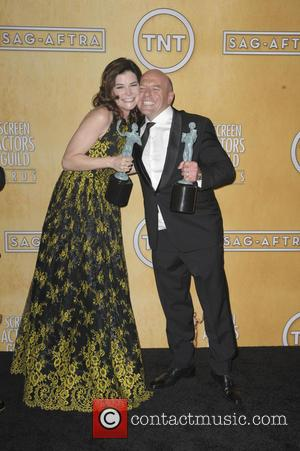 Dean Norris and Betsy Brandt - 20th Annual Screen Actors Guild Awards - Press Room - Los Angeles, California, United...