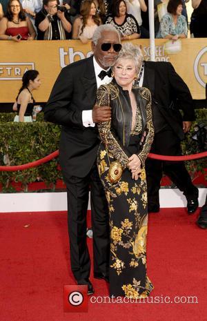 Rita Moreno and Morgan Freeman - The 20th Annual Screen Actors Guild Awards arrivals - Los Angeles, California, United States...