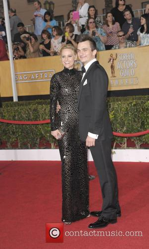 Rupert Friend and Aimee Mullins - The 20th Annual Screen Actors Guild Awards arrivals - Los Angeles, California, United States...