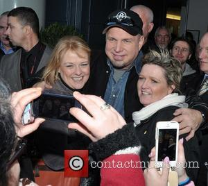 Garth Brooks - Garth Brooks meets fans outside Croke Park following a photocall announcing he will perform in Ireland for...