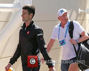 Novak Djokovic and Boris Becker - Australian Open Tennis 2014 at the Rod Laver Arena - Novak JOKOVIC (Srb) and...