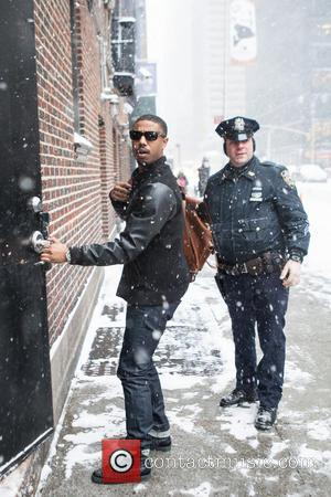Michael B. Jordan - Celebrities at the Ed Sullivan Theater for the Late Show With David Letterman - New York...