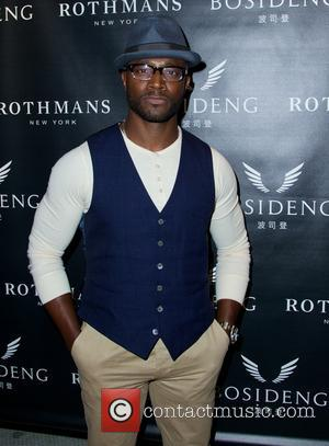 Taye Diggs - VIP cocktail launch party of billion-dollar chinese brand, Bosideng with special unveiling of a one-of-a-kind painting by...
