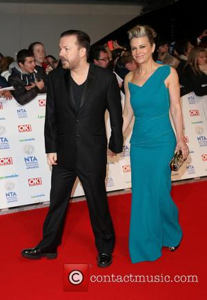 Ricky Gervais and Jane Fallon - The National Television Awards 2014 (NTA's) held at the O2 Arena - Arrivals -...