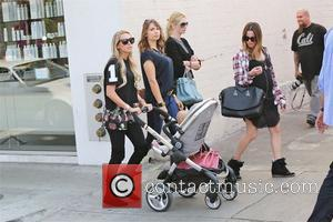 Petra Ecclestone - Petra Ecclestone out and about pushing baby daughter Lavinia in her stroller in Beverly Hills - Los...