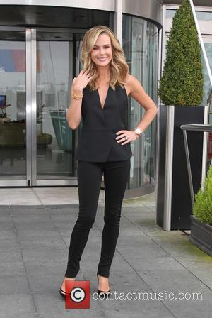 Amanda Holden - Britain's Got Talent judges leaving their hotel to attend the Cardiff auditions - Cardiff, United Kingdom -...