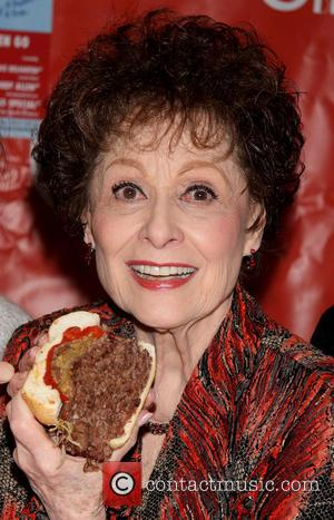 Carol Lawrence - Naming the 'Handle With Care by Carol Lawrence' sandwich at the Carnegie Deli. - New York, New...