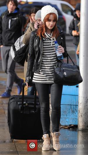 Paula Lane - Cast Members of Coronation Street Arrive at Manchester Piccadilly Train Station off the London train after The...