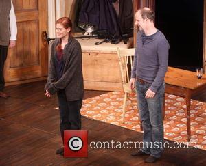Debra Messing and Brian F. O'byrne