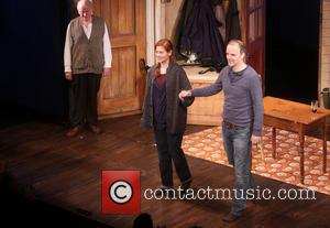 Peter Maloney, Debra Messing and Brian F. O'byrne