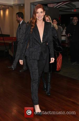 Debra Messing wearing Christian Siriano - Opening Night after party for Broadway's Outside Mullingar, held at the Copacabana nightclub -...