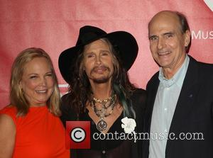 James Taylor, Steven Tyler and Caroline Smedvig - 2014 MusiCares Person Of The Year honoring Carole King at Los Angeles...