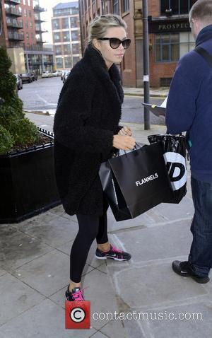 Abbey Clancy - Strictly Come Dancing contestants leave their hotel ahead of their performances later this evening (25Jan14) in the...