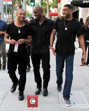 Tyrese Gibson, Tank and Ginuwine - Tyrese Gibson, Tank and Ginuwine laugh and joke around whilst walking along Rodeo Drive...