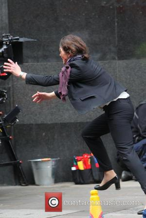 Milla Jovovich - Milla Jovovich on the set of the movie Survivor. - London, United Kingdom - Saturday 25th January...