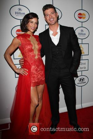 Paula Patton and Robin Thicke - 2014 Pre-Grammy Gala & Grammy Salute to Industry Icons - Clive Davis at The...