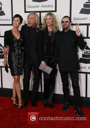 Marjorie Bach, Joe Walsh, Barbara Bach and Ringo Starr