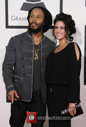 Ziggy Marley and wife Orly Agai - The 56th Annual GRAMMY Awards (2014) held at the Staples Center in Los...