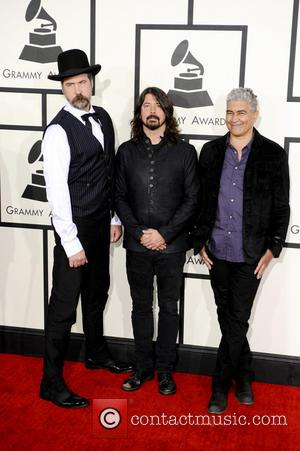 Krist Novoselic, Dave Grohl and Pat Smear