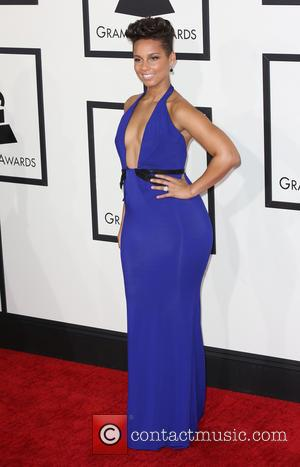 Alicia Keys - The 56th Annual GRAMMY Awards held at the Staples Center - Arrivals - Los Angeles, California, United...