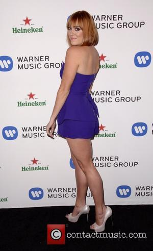 Andrea Bowen - Celebrities attend Warner Music Group Annual Grammy Celebration at Sunset Tower Hotel. - Los Angeles, California, United...