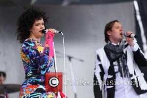 Régine Chassagne and Win Butler - 2014 Big Day Out Festival - Arcade Fire performing on stage - Sydney, Australia...