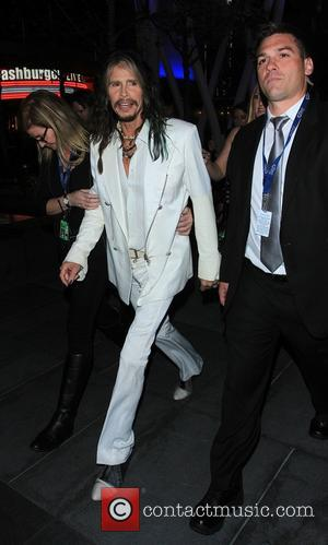 Steven Tyler - The 56th Annual GRAMMY Awards held at the Staples Center - Departures - Los Angeles, California, United...