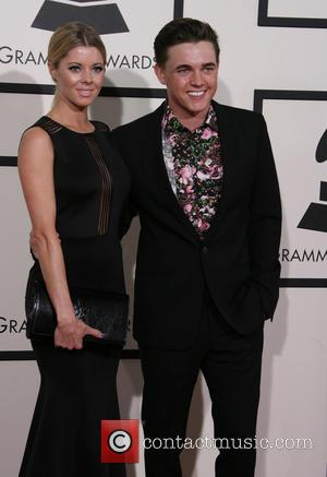 Jesse McCartney and Katie Peterson - The 56th Annual GRAMMY Awards held at the Staples Center - Arrivals - Los...