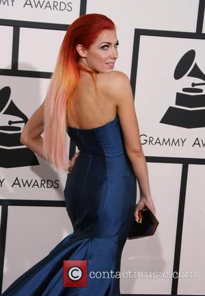 Bonnie McKee - The 56th Annual GRAMMY Awards held at the Staples Center - Arrivals - Los Angeles, California, United...