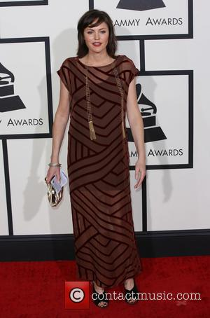 Jorja Fox - The 56th Annual GRAMMY Awards held at the Staples Center - Arrivals - Los Angeles, California, United...