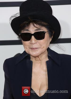 Yoko Ono - The 56th Annual GRAMMY Awards held at the Staples Center - Arrivals - Los Angeles, California, United...