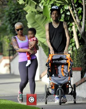 Wiz Khalifa and Amber Rose - American rapper Wiz Khalifa takes his wife and son Sebastian on a hike to...