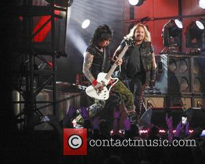 Motley Crue, Nikki Sixx and Vince Neil - Motley Crue perform on Jimmy Kimmel Live - Hollywood, California, United States...