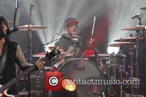 Motley Crue and Tommy Lee - Motley Crue perform on Jimmy Kimmel Live - Hollywood, California, United States - Tuesday...