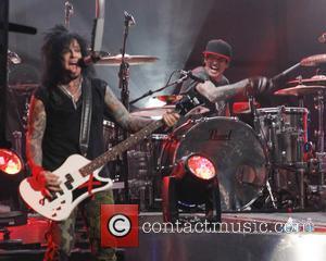 Motley Crue, Tommy Lee and Nikki Sixx - Motley Crue perform on Jimmy Kimmel Live - Hollywood, California, United States...