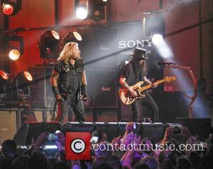 Motley Crue, Vince Neil and Mick Mars - Motley Crue perform on Jimmy Kimmel Live - Hollywood, California, United States...