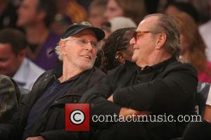 Jack Nicholson and Bruce Dern - Celebrities watch the Los Angeles Lakers v Indiana Pacers basketball game at the Staples...