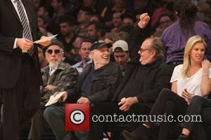 Jack Nicholson and Bruce Dern - Tuesday January 28, 2014; Celebs out at the Lakers game. Indiana Pacers defeated the...