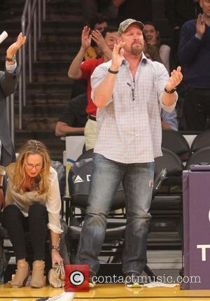 Steve Austin - Tuesday January 28, 2014; Celebs out at the Lakers game. Indiana Pacers defeated the Los Angeles Lakers...