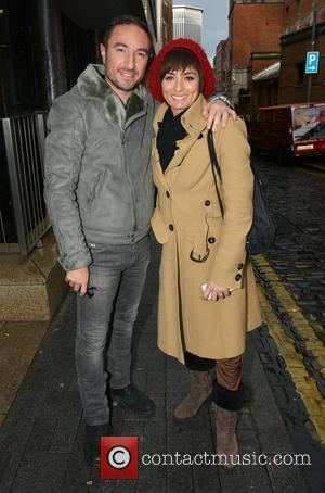 Flavia Cacace and Vincent Simone - Flavia Cacace and Vincent Simone at the Today FM studios for the Ray Darcy...