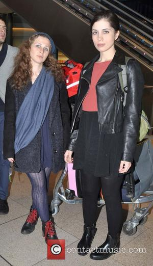 Maria Alyokhina and Nadezhda Tolokonnikova - Members of the Russian punk band Pussy Riot,Maria Alyokhina ( L ) and Nadezhda...
